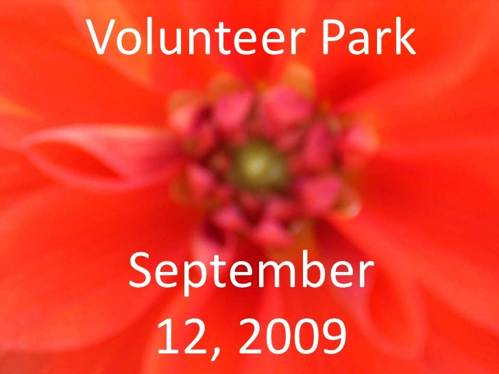 Volunteer Park<br />September 12, 2009<br />