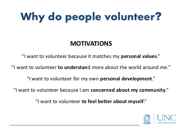 why i volunteer essay Free article provides you with the collection of brilliant topics for your next  persuasive paper about volunteering choose a subject you like the.
