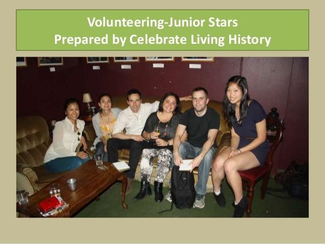Volunteering-Junior Stars Prepared by Celebrate Living History