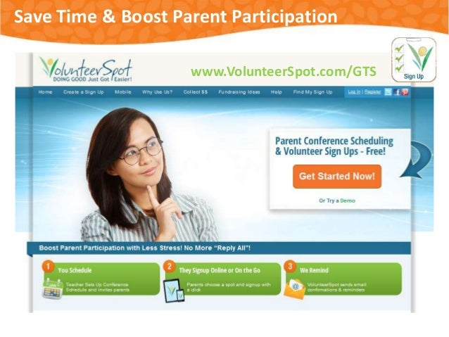 Save Time & Boost Parent Participation www.VolunteerSpot.com/GTS  #