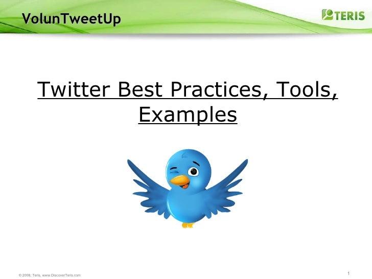VolunTweetUp Twitter Best Practices, Tools, Examples