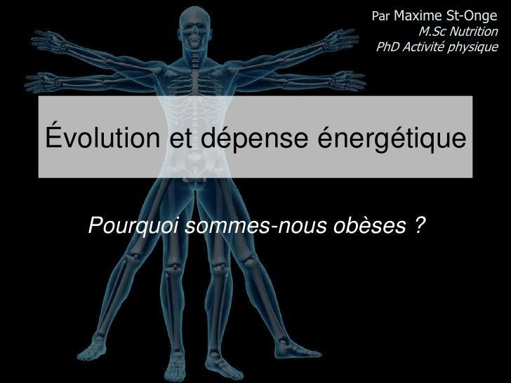 Évolution et obésité