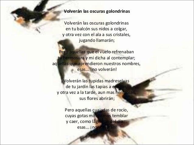 Volverán Las Oscuras Golondrinas Analizar Poema 7º