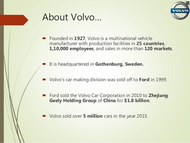 Brand Positioning Statement Of Volvo