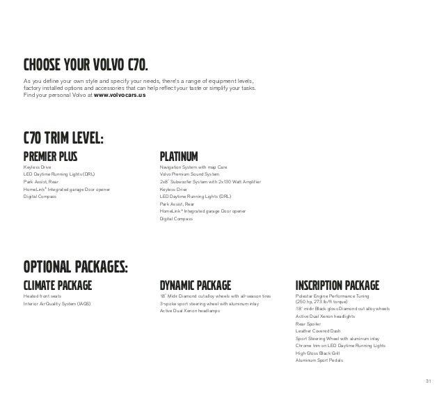 2013 Volvo C70 Brochure | Chicago Volvo Dealer