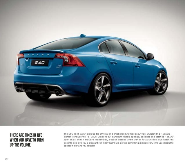 2013 Volvo S60 Brochure | Chicago Volvo Dealer