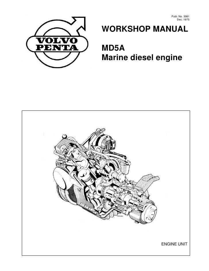 volvo penta md5a diesel marine engine workshop manual rh slideshare net 03 Volvo Penta 4.3 Volvo Penta Parts