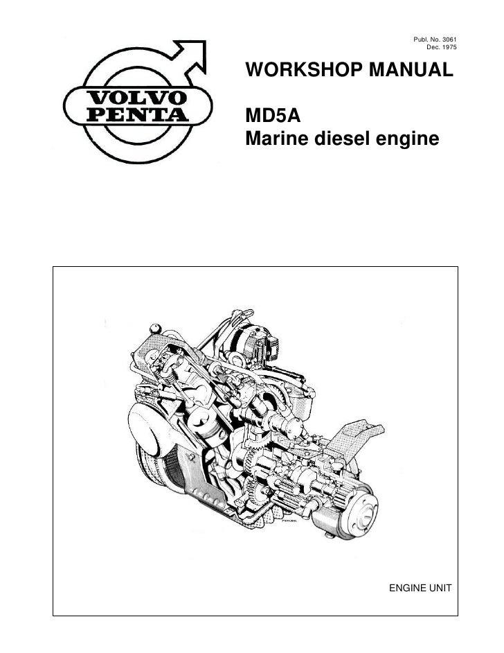 volvo penta md5a diesel marine engine workshop manual rh slideshare net Volvo Penta Boat Volvo Penta Outdrives