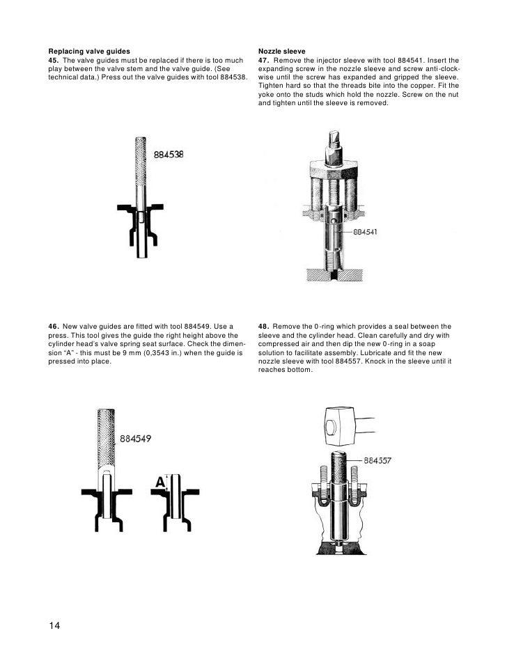 volvo penta mda diesel marine engine workshop manual 13 16