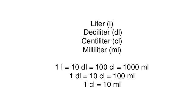 deciliter til liter