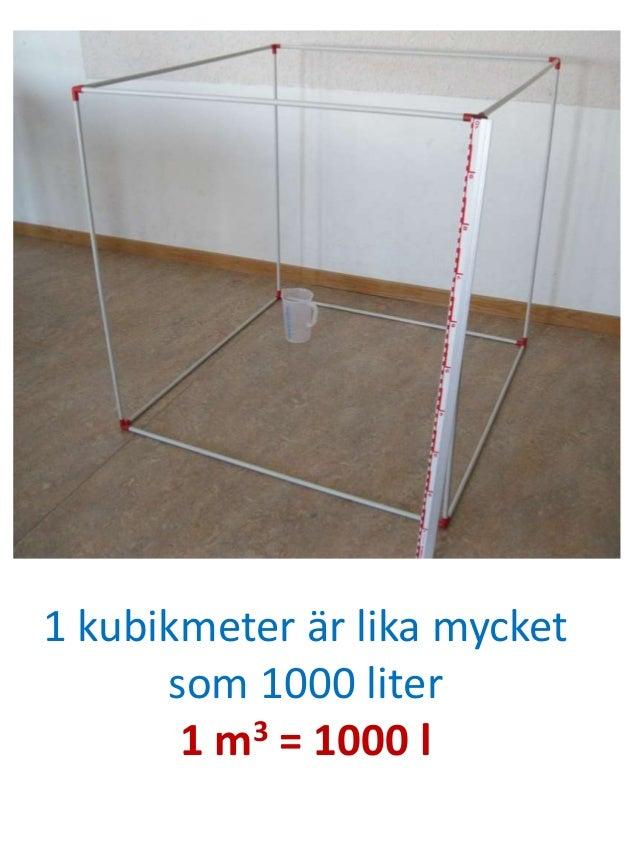 kubikmeter til liter