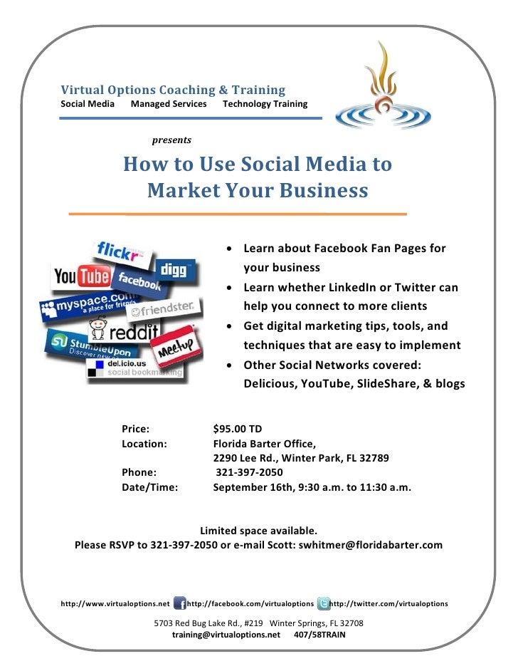 Virtual Options Coaching & Training Social Media      Managed Services       Technology Training                          ...
