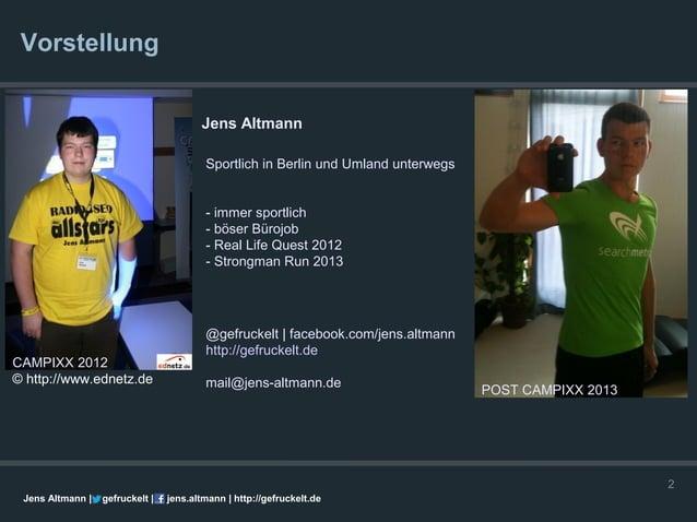 Vorstellung                                        Jens Altmann                                         Sportlich in Berli...
