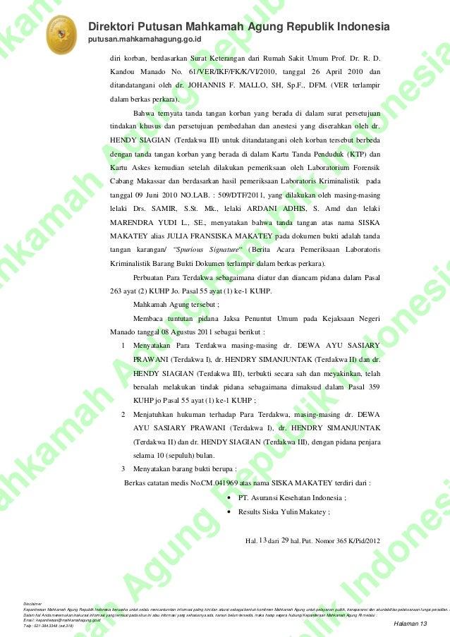 Vonis Dr Dewa Ayu Sasiary Prawani Spog Ma365kpid2012