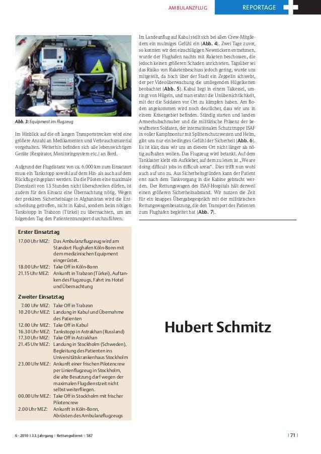 Ambulanzflug                            reportage                                                             Im Landeanfl...