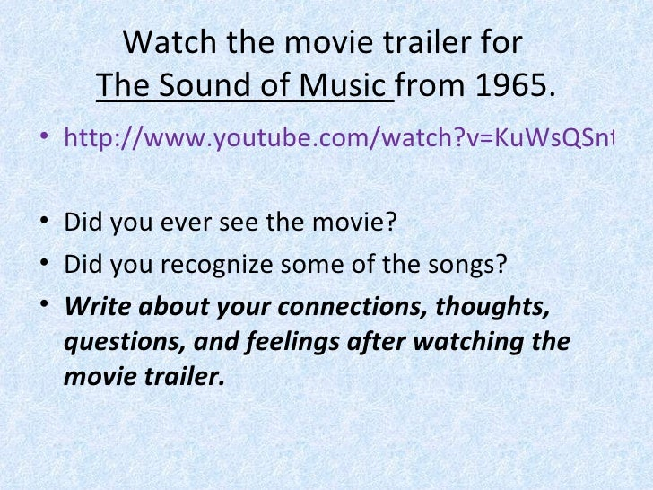 Von Trapp family and The Sound of Music