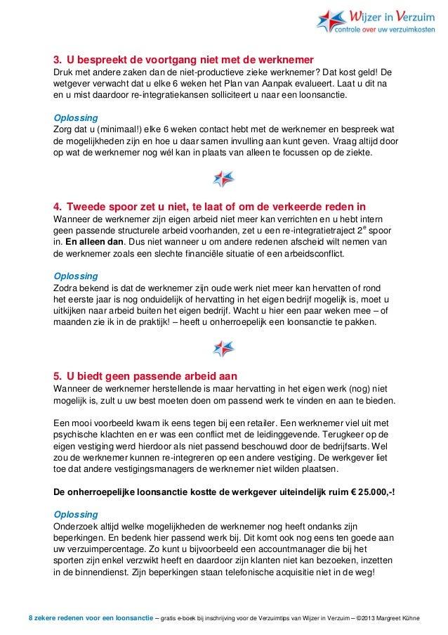plan van aanpak zieke werknemer Voorkomen van loonsanctie plan van aanpak zieke werknemer