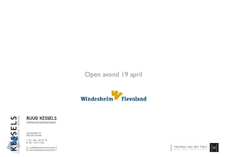 Open avond 19 april