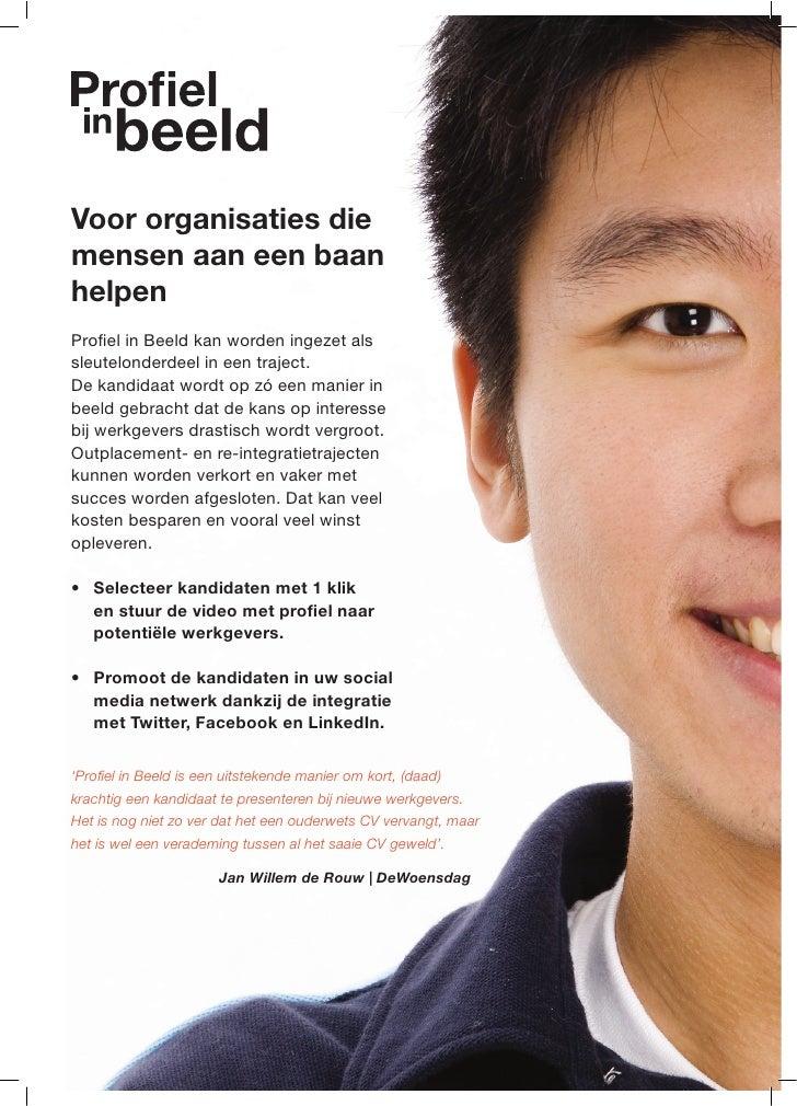 Profiel in Beeld | Inlay voor organisaties
