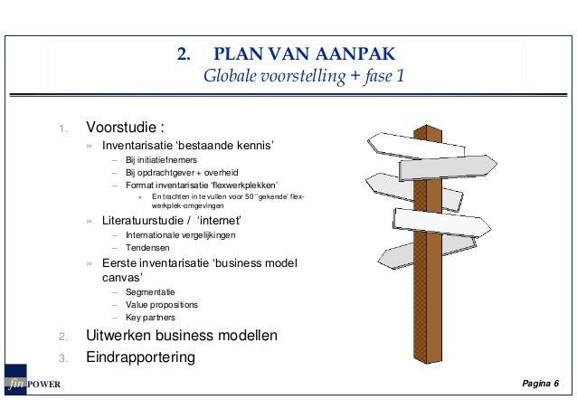 model plan van aanpak Zoektocht naar haalbare business modellen voor flexwerkplekken in Vla… model plan van aanpak