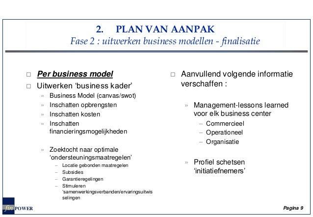 plan van aanpak model Zoektocht naar haalbare business modellen voor flexwerkplekken in Vla… plan van aanpak model