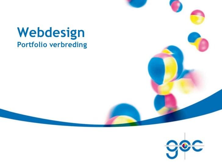 Webdesign Portfolio verbreding