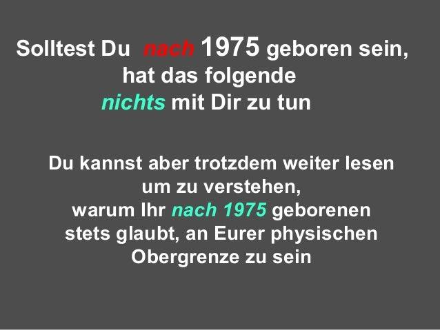 Vor 1975 Geboren