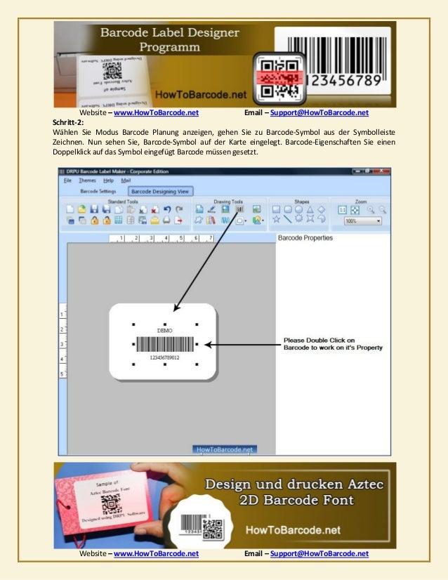 Vorgehensweise zu gestalten und auszudrucken aztec 2 d barcode font Slide 3