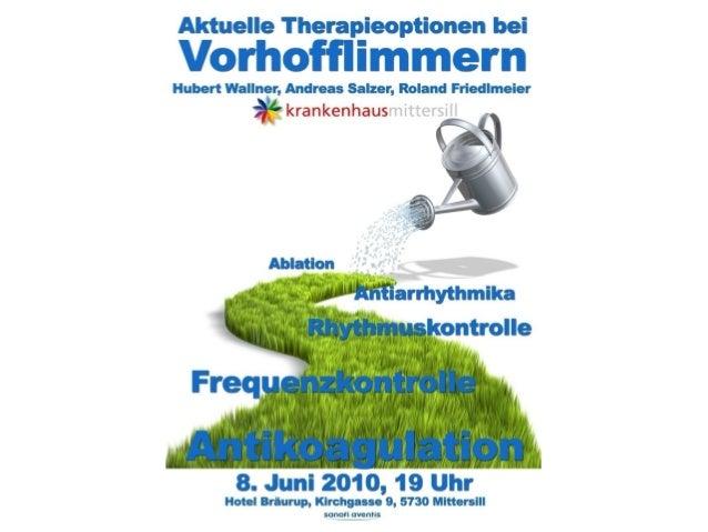 Vorhofflimmern ist die häufigste Herzrhythmusstörung Schätzungsweise 100.000 Menschen in Österreich leiden an Vorhofflimme...