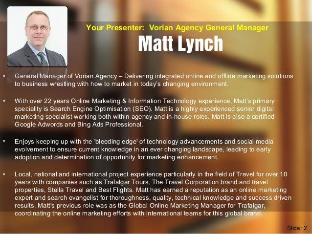 Vorian Agency EDM & eNewsletter Marketing with MailChimp Seminar Slide 2