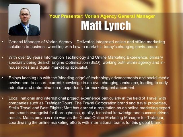 Vorian Agency - Search Marketing Integration (SMI) Seminar Slide 2