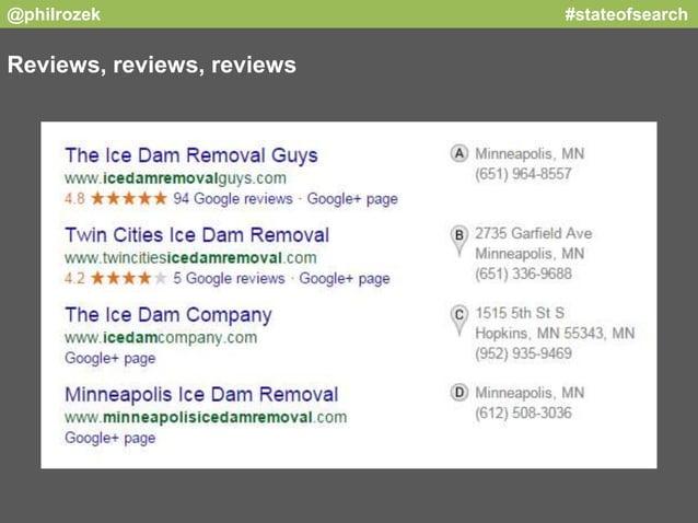 @philrozek #stateofsearch  Reviews, reviews, reviews