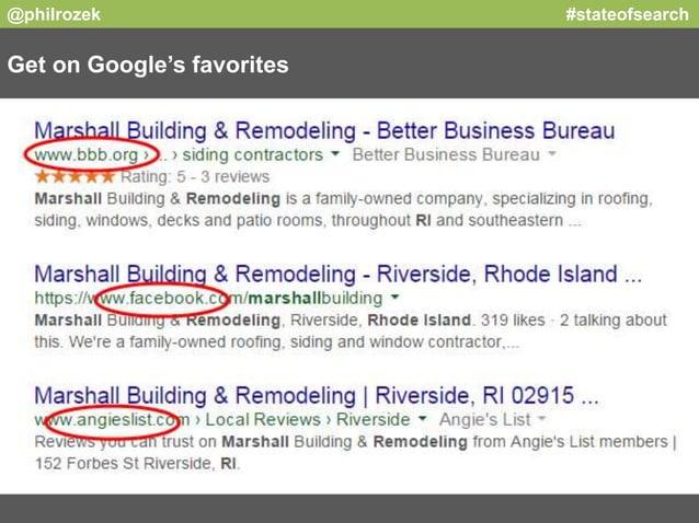 @philrozek #stateofsearch  Get on Google's favorites