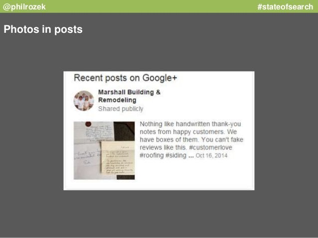 @philrozek #stateofsearch  Photos in posts