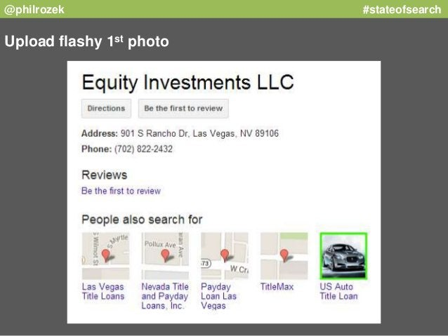 @philrozek #stateofsearch  Upload flashy 1st photo