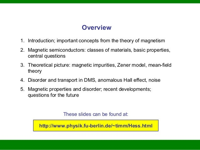 dilute magnetic semiconductor thesis To that end, dilute magnetic semiconductors (dms) have recently been a major focus of magnetic semiconductor research.