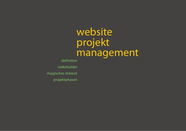 website                  projekt                  management         definition       stakeholder magisches dreieck    pro...