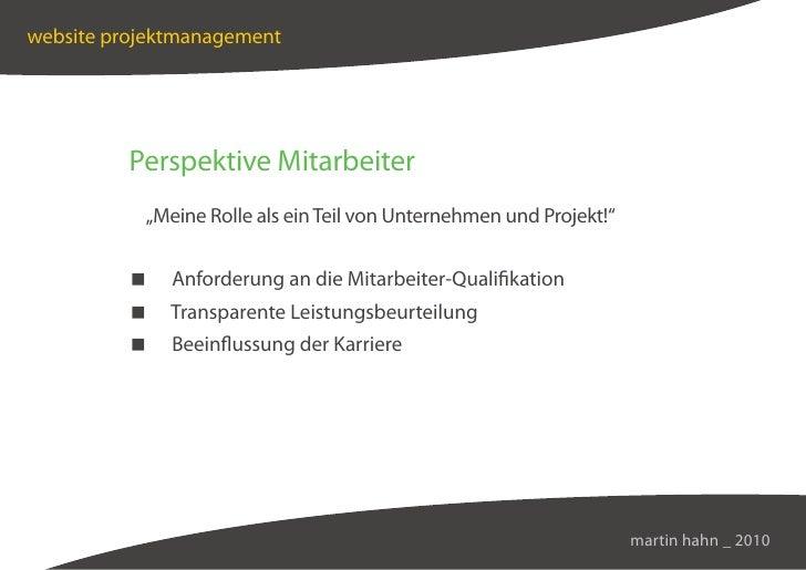 """website projektmanagement               Perspektive Mitarbeiter            """"Meine Rolle als ein Teil von Unternehmen und P..."""
