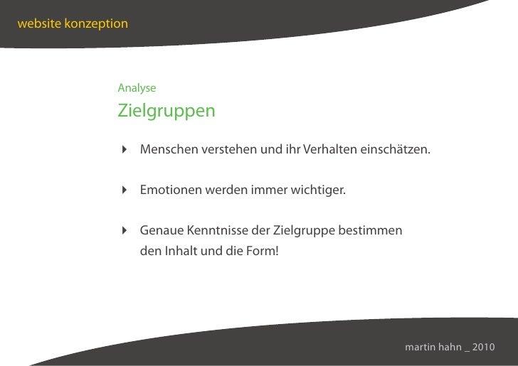 website konzeption                    Analyse                  Zielgruppen                  Menschen verstehen und ihr Ver...