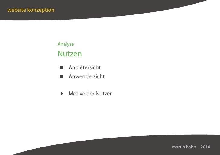 website konzeption                          Analyse                       Nutzen                       Anbietersicht      ...