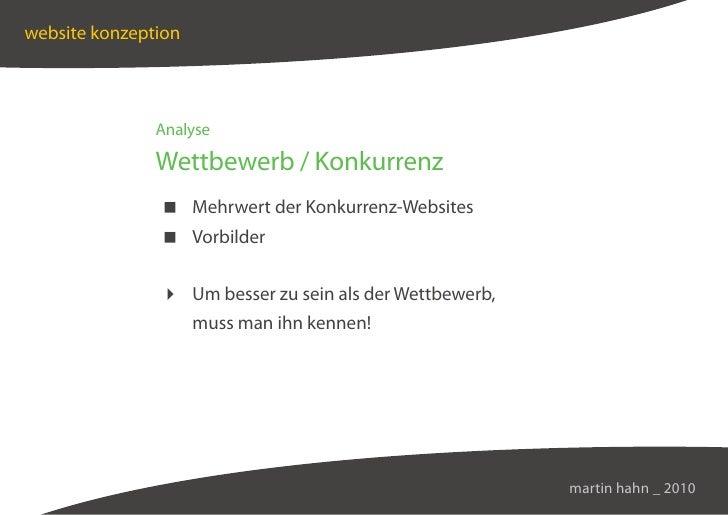 website konzeption                    Analyse                 Wettbewerb / Konkurrenz                 Mehrwert der Konkurr...