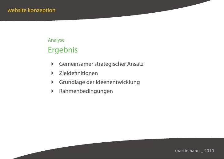 website konzeption                    Analyse                 Ergebnis                 Gemeinsamer strategischer Ansatz   ...