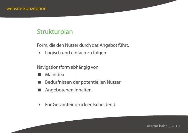 website konzeption                 Strukturplan              Form, die den Nutzer durch das Angebot führt.               L...