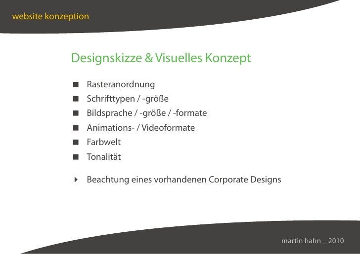 website konzeption                 Designskizze  Visuelles Konzept               Rasteranordnung               Schrifttype...