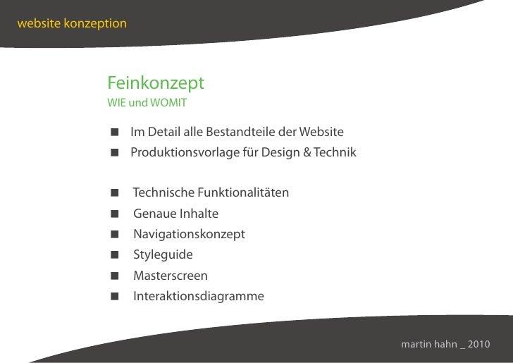 website konzeption                  Feinkonzept               WIE und WOMIT                 Im Detail alle Bestandteile de...