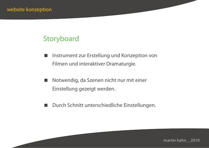website konzeption                   Storyboard                 Instrument zur Erstellung und Konzeption von              ...