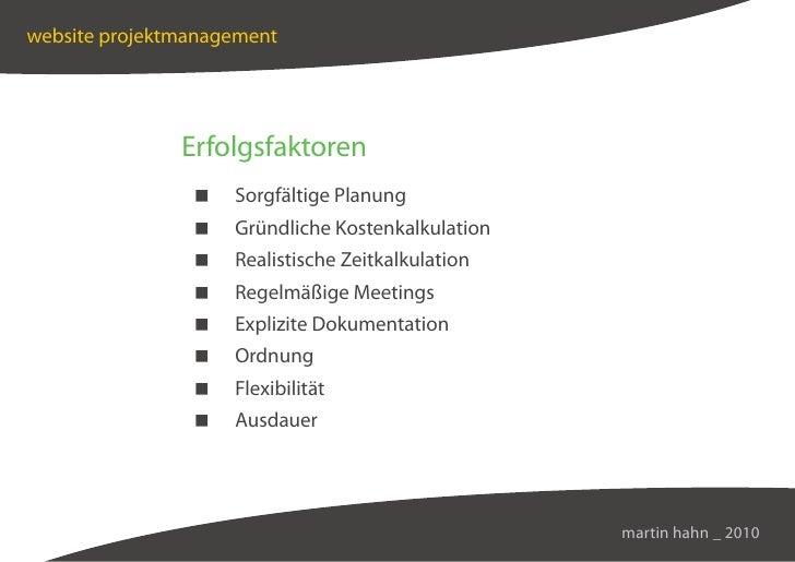 website projektmanagement                    Erfolgsfaktoren                    Sorgfältige Planung                    Grü...