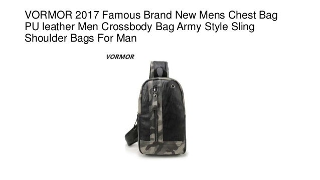 Vormor 2017 famous brand new mens chest bag pu leather men crossbody … abbeea33dd0f9