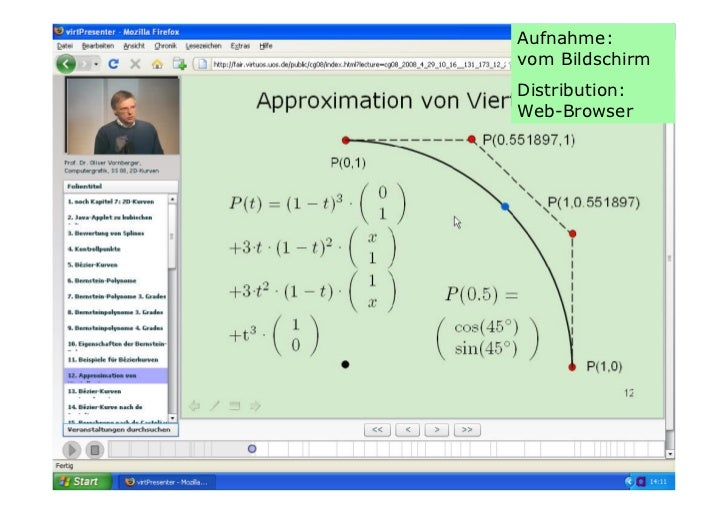Podium Mathe-Online 1: Folien Prof. Vornberger Slide 3