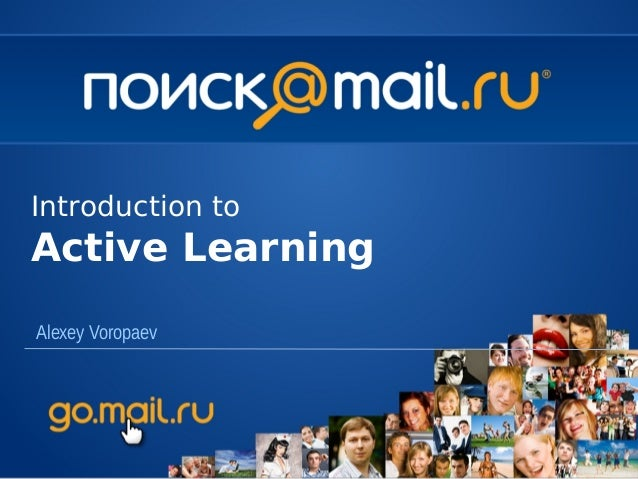 Introduction toActive LearningAlexey Voropaev